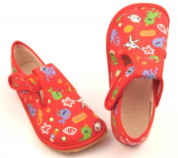 Barefoot papuče červené rybky  6ce600e041