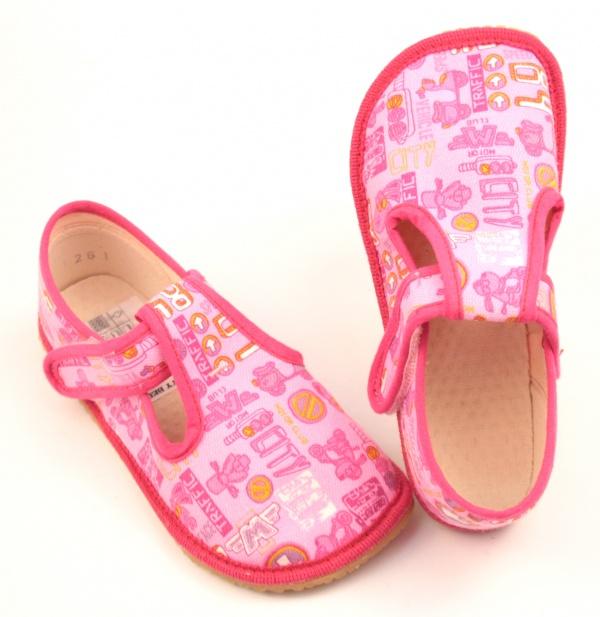4e4031004bfb6 Barefoot papuče Boty Beda - růžová | boty-detske.cz