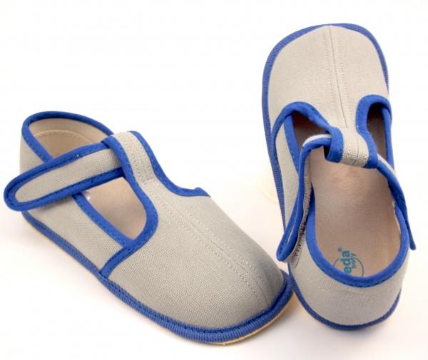 980c7b9ce93 Zvětšit Barefoot papuče šedá modrá užší