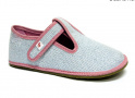 Barefoot papuče Ef modrá třpytka 01