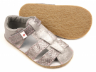 Ef Barefoot sandálky Grey Silver