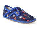 Barefoot papuče Modrý fotbal