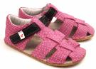 Ef Barefoot sandálky Růžová s černou