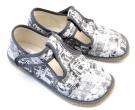 Barefoot bačkory Beda šedý nápis