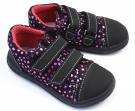 Jonap barefoot dívčí boty B16 černé srdce