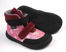 Jonap Barefoot dívčí podzimní boty Jerry Vínová růžová