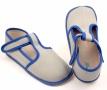 Barefoot papuče šedá/modrá užší