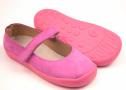 Beda  Boty kožené balerínky růžové