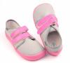 Beda  Barefoot tenisky Grey/pink