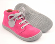 Filii barefoot - Gecko  velours pink laces M