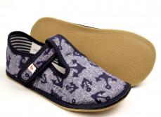 Zvětšit Ef barefoot chlapecké bačkory 395 Jeans Kotva
