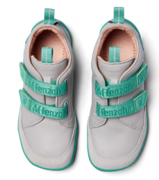 Affenzahn Leather sneaker Dog - Grey Green