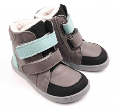 Zvětšit Baby Bare Shoes Febo Winter Grey/tyrkys Asfaltico