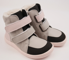 Zvětšit Baby Bare Shoes Febo Winter Grey Pink Asfaltico