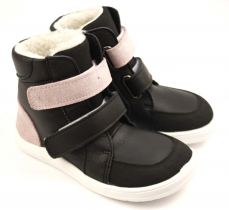 Baby Bare Shoes Febo Winter Sparkle Black Asfaltico