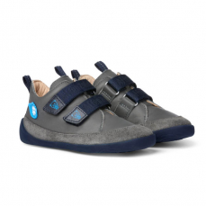 Affenzahn Lowcut Leather Grey Blue