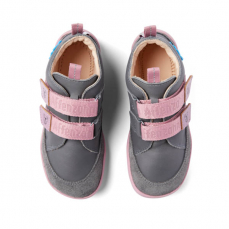 Affenzahn Lowcut Leather Koala Grey Pink