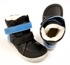 Baby Bare Shoes Febo Winter Black Asfaltico