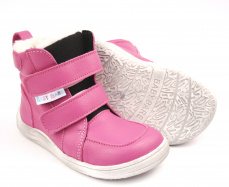 Baby Bare Shoes  Winter Fuchsia