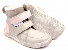 Baby Bare Shoes Febo Winter Grey Pink