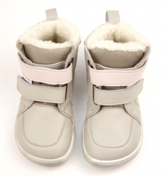 Baby Bare Shoes Febo Winter Grey Pink Asfaltico