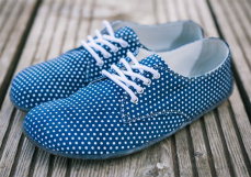 Lenka Barefoot City - Dots Dark Blue