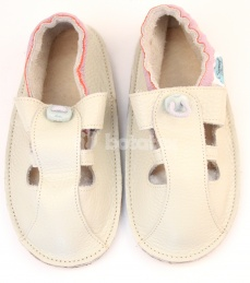 Zvětšit Kožené capáčky S.Baby- růžové sandálky