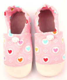 Zvětšit Bavlněné capáčky S.Baby růžové srdíčka
