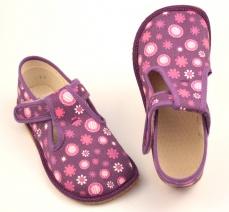 Zvětšit Barefoot papuče fialová kytka