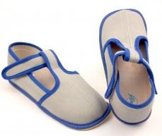 Zvětšit Barefoot papuče šedá/modrá užší