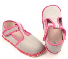 Zvětšit Barefoot papuče šedá/růžová užší