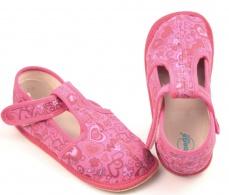 Zvětšit Barefoot papuče růžové srdce užší